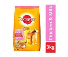 Buy Pedigree Puppy Dry Dog Food, Chicken & Milk, 3kg - Dogs & Puppy Food Online In India